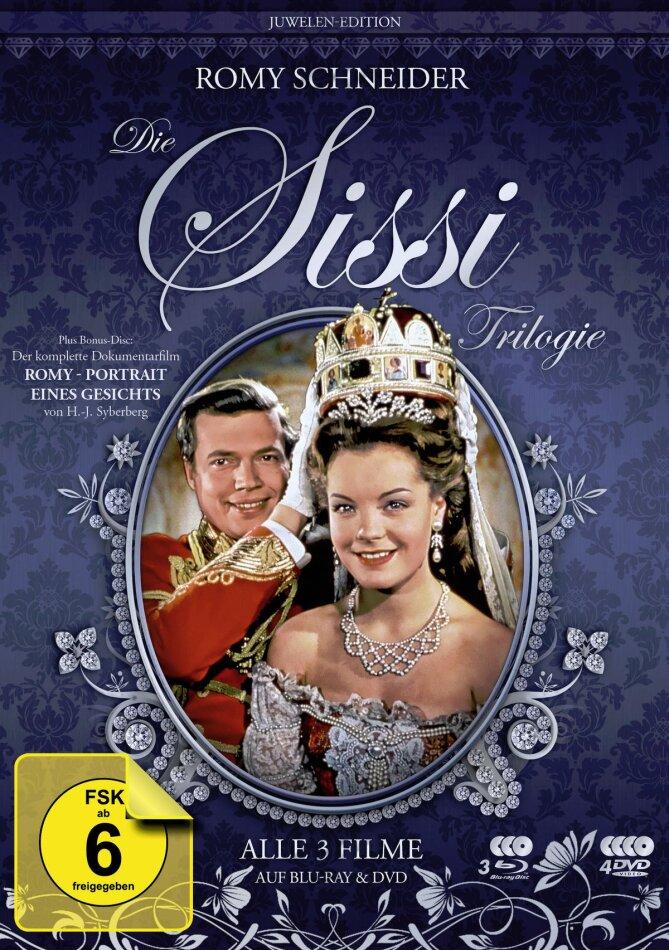 Die Sissi Trilogie (Juwelen-Edition, Filmjuwelen, Restaurierte Fassung, 3 Blu-rays + 4 DVDs)