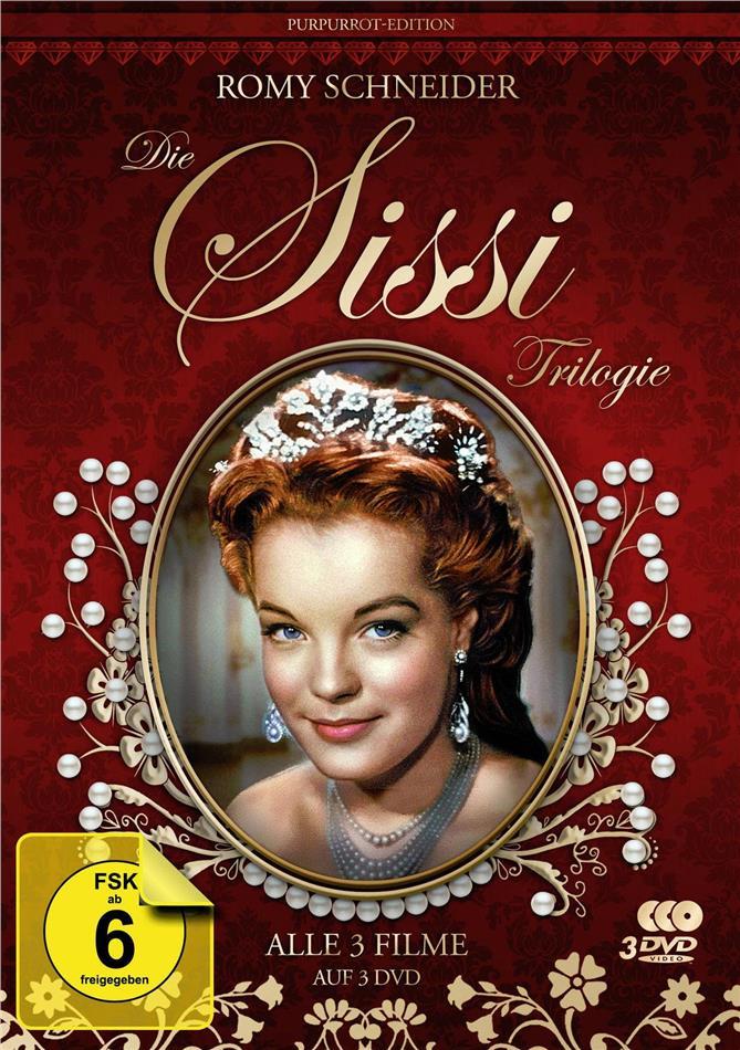 Die Sissi Trilogie (Purpurrot-Edition, Filmjuwelen, 3 DVD)