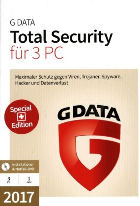 GData Total Security 2017 Swiss Edition (3 PC)