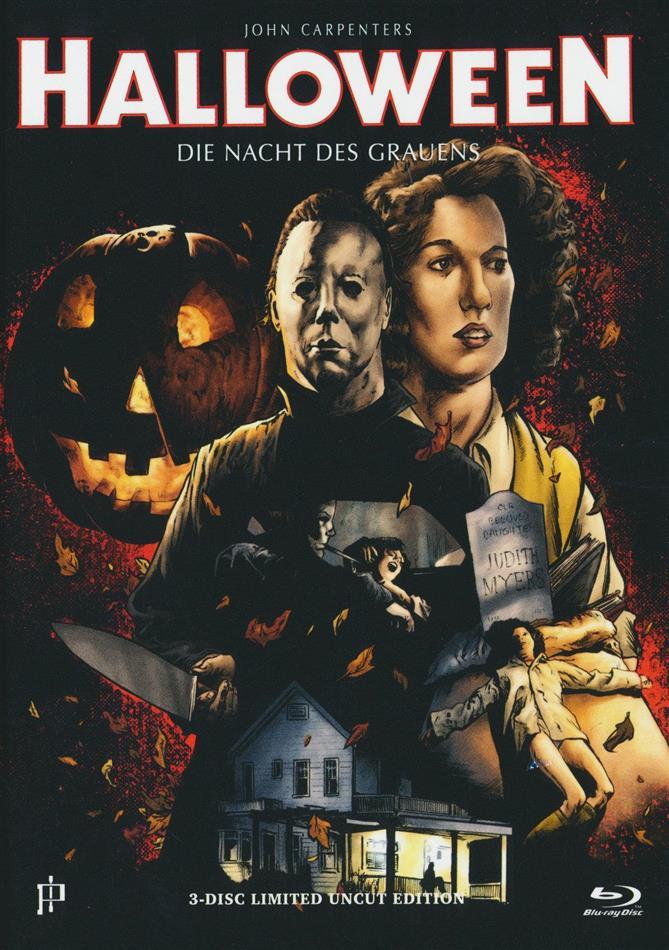 Halloween - Die Nacht des Grauens (1978) (Cover E, Limited Uncut Edition, Mediabook, Blu-ray + DVD + CD)