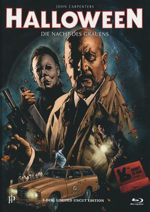 Halloween (1978) (Cover F, Limited Uncut Edition, Mediabook, Blu-ray + DVD + CD)