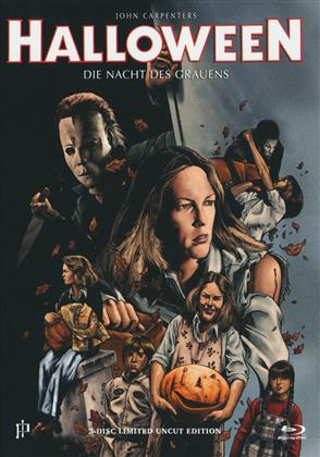 Halloween (1978) (Cover G, Limited Uncut Edition, Mediabook, 2 Blu-rays + 2 DVDs + CD)
