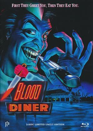 Blood Diner (1987) (Cover A, Limited Uncut Edition, Mediabook, Blu-ray + DVD)