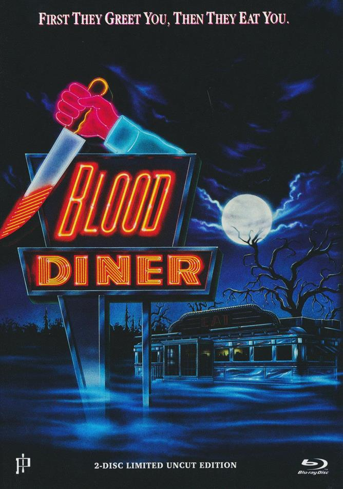 Blood Diner (1987) (Cover B, Limited Uncut Edition, Mediabook, Blu-ray + DVD)