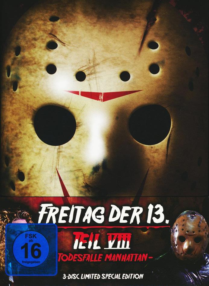 Freitag der 13. - Teil 8 - Todesfalle Manhattan (1989) (Limited Special Edition, Mediabook, Blu-ray + 2 DVDs)