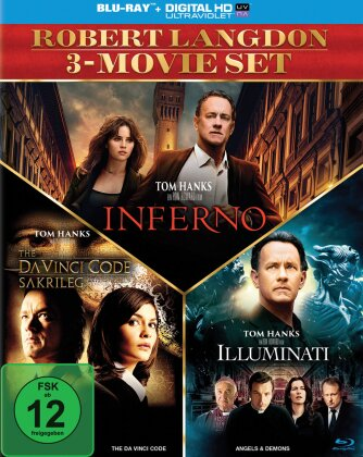 Robert Langdon 3-Movie Set - Inferno / The Da Vinci Code - Sakrileg / Illuminati (3 Blu-rays)