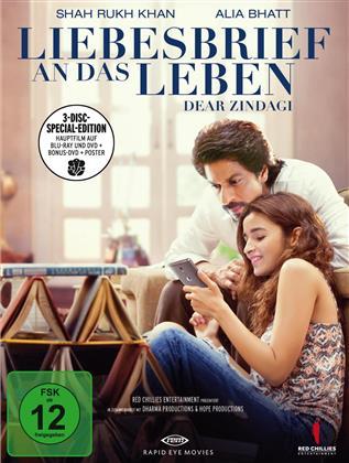 Liebesbrief an das Leben - Dear Zindagi (2016) (+ Poster, Limited Special Edition, Blu-ray + 2 DVDs)