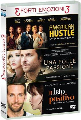3 Forti Emozioni 3 - Tris Forti Emozioni - American Hustle / Una Folle Passione / Il Lato Positivo (Edizione Limitata, 3 DVD)