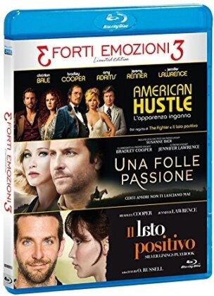 3 Forti Emozioni 3 - Tris Forti Emozioni - American Hustle / Una Folle Passione / Il Lato Positivo (Limited Edition, 3 Blu-rays)