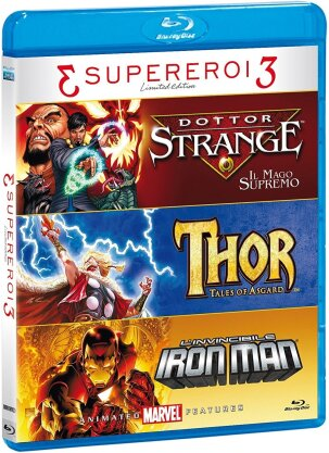 3 Supereroi 3 - Tris Supereroi - Doctor Strange - Il Mago Suprimo / Thor - Tales of Asgard / L'invincibile Iron Man (Limited Edition, 3 Blu-rays)