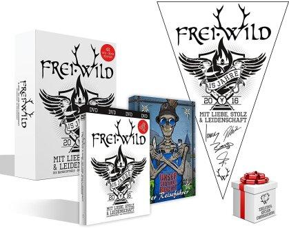 Frei.Wild - 15 Jahre Mit Liebe, Stolz und Leidenschaft (Limited Edition, 3 DVDs + Buch)