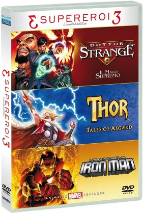 3 Supereroi 3 - Tris Supereroi - Doctor Strange - Il Mago Supremo - Tales of Asgard / Thor / L'invincibile Iron Man (Limited Edition, 3 DVDs)