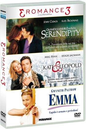 3 Romance 3 - Tris Romance - Serendipity - Quando l'amore è magia / Kate & Leopold / Emma (Edizione Limitata, 3 DVD)