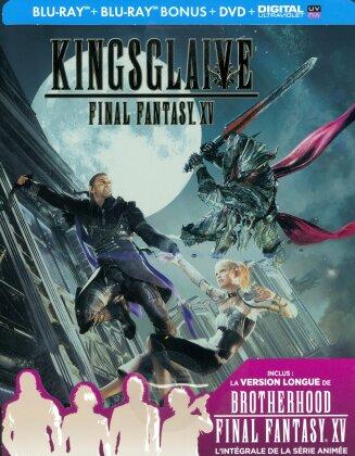 Kingsglaive - Final Fantasy XV (2016) (Steelbook, 2 Blu-rays + DVD)
