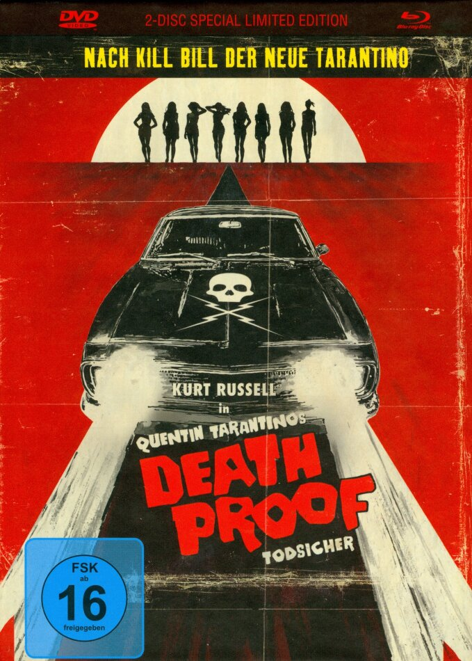Grindhouse - Death Proof (2007) (Digibook, Limited Special Edition, Uncut, Blu-ray + DVD)