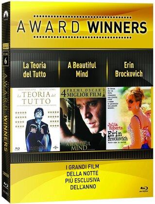 Award Winners - Volume 6 - La teoria del tutto / A Beautiful Mind / Erin Brockovich (3 Blu-ray)