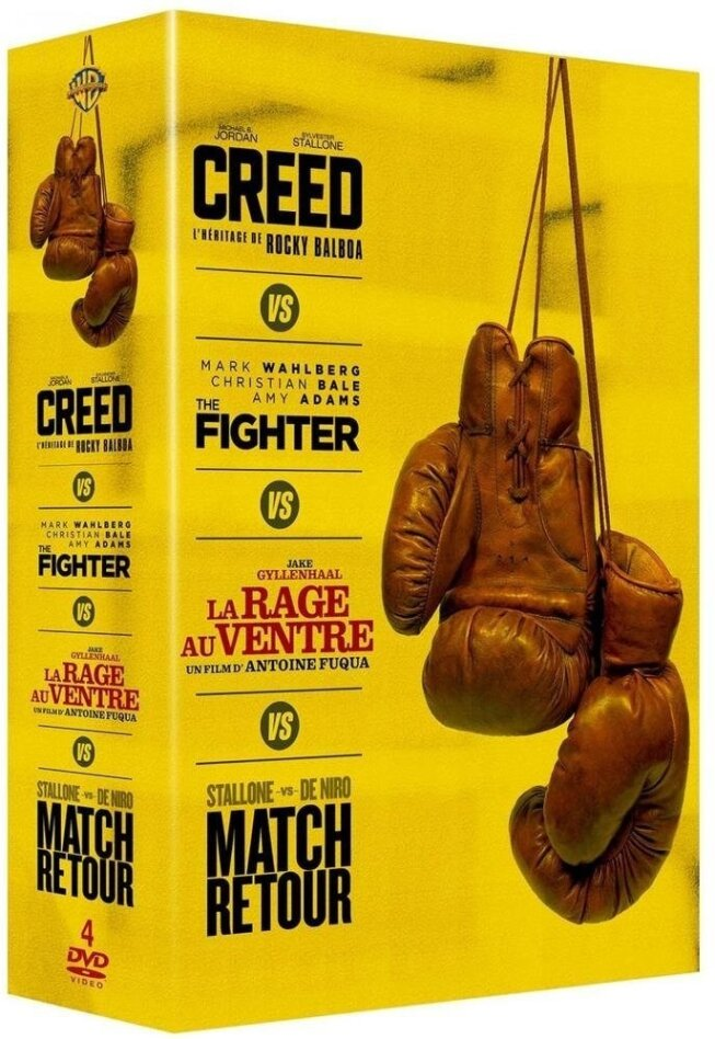 Creed / The Fighter / La rage au ventre / Match retour (Box, 4 DVDs)