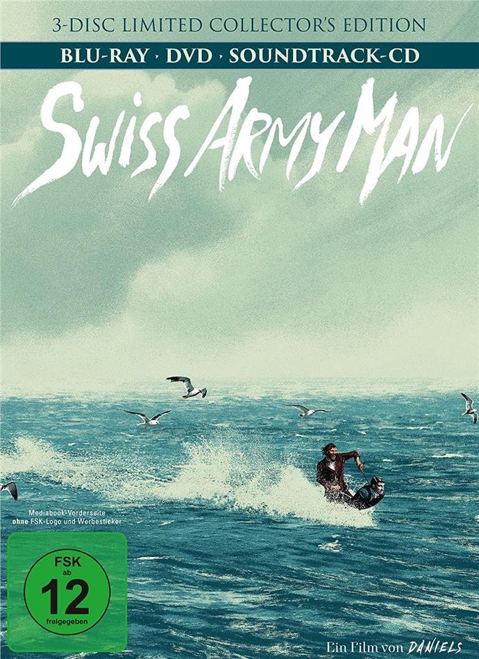Swiss Army Man (2016) (Mediabook, Blu-ray + DVD + CD)
