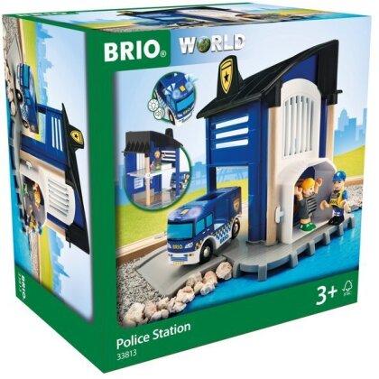 BRIO Bahn 33813 Polizeistation mit Einsatzfahrzeug