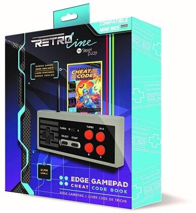 NES mini Controller Kabel Steelplay Joystick Controller Edge - incl. Cheats Buch Steelplay