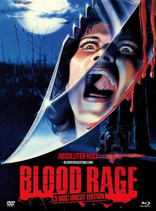 Blood Rage (1987) (Cover A, Limited Edition, Mediabook, Uncut, Blu-ray + 2 DVDs)