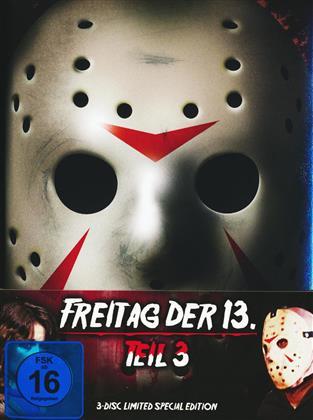 Freitag der 13. - Teil 3 (1982) (Limited Special Edition, Mediabook, Blu-ray + 2 DVDs)
