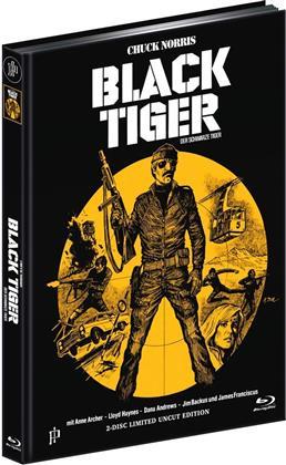 Black Tiger - Der schwarze Tiger (1978) (Cover A, Limited Edition, Mediabook, Uncut, Blu-ray + DVD)