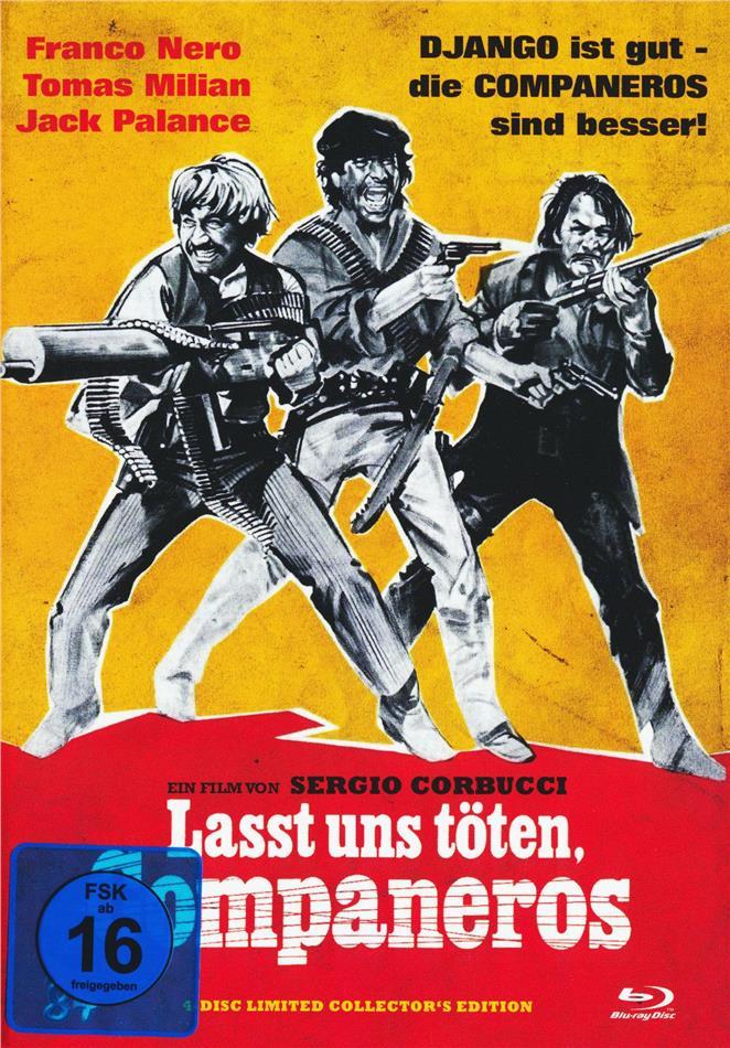 Lasst uns töten, Companeros (1970) (Cover C, Collector's Edition, Limited Edition, Mediabook, Uncut, Blu-ray + 2 DVDs + CD)