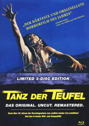 Tanz der Teufel (1981) (Cover C, Limited Edition, Mediabook, Remastered, Uncut, 3 Blu-rays)