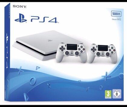 Sony Playstation 4 500GB SLIM weiß + 2 Controller