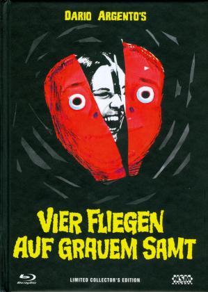 Vier Fliegen auf grauem Samt (1971) (Cover A, Collector's Edition, Limited Edition, Mediabook, Uncut, Blu-ray + 2 DVDs)