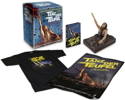 Tanz der Teufel (1981) (Büste, T-Shirt Grösse L, Poster, Ultimate Collector's Edition, Mediabook, Remastered, Uncut, 3 Blu-rays)