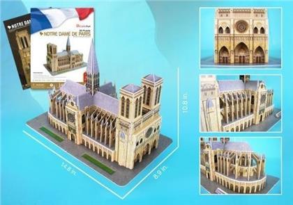 Notre Dame of Paris 3D Puzzle with Book - 74 Pieces
