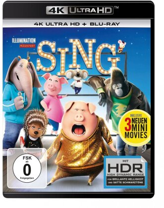 Sing (2016) (4K Ultra HD + Blu-ray)