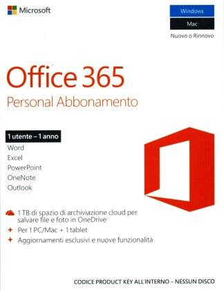 Office 365 Personal [1PC +1 Tablet] Abbonamento di 1 anno