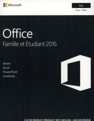 Office Famille et Étudiant 2016 [1 Mac] Clé produit
