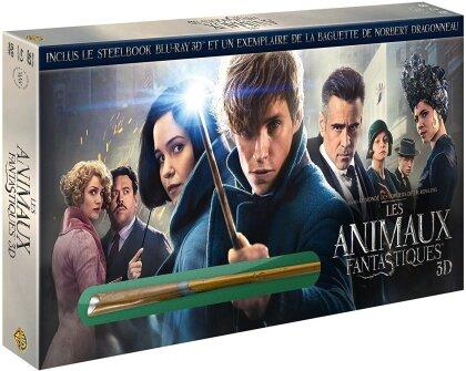 Les animaux fantastiques (2016) (inclus Baguette de Norbert Dragonneau, Limited Steelbook, Blu-ray 3D + Blu-ray + DVD)