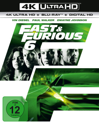 Fast & Furious 6 (2013) (Extended Version, Kinoversion, 4K Ultra HD + Blu-ray)