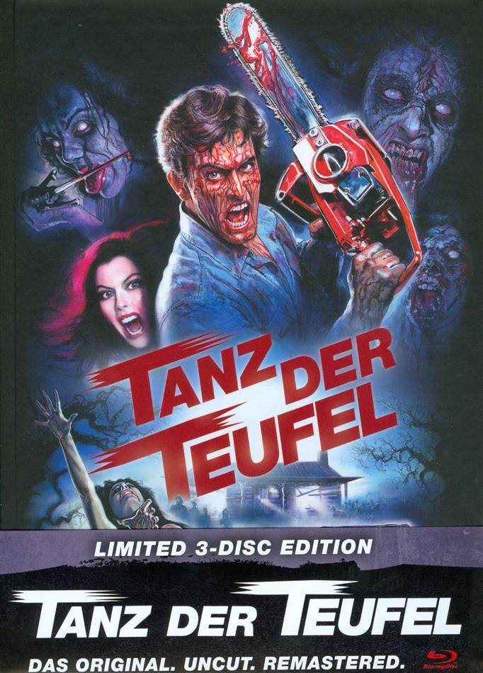 Tanz der Teufel (1981) (Cover D, Limited Edition, Mediabook, Remastered, Uncut, 3 Blu-rays)