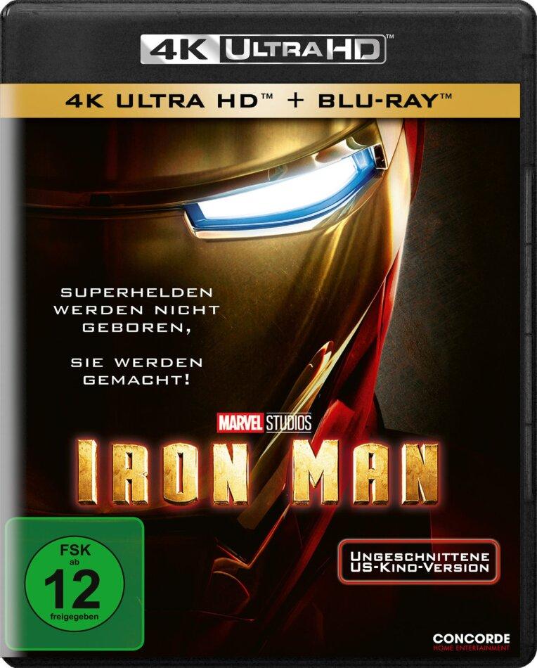 Iron Man (2008) (Uncut, 4K Ultra HD + Blu-ray)