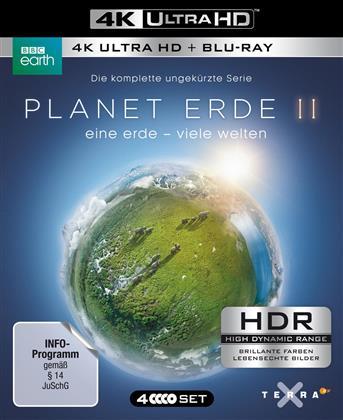 Planet Erde II - Eine Erde - Viele Welten (2016) (BBC Earth, 2 4K Ultra HDs + 2 Blu-rays)