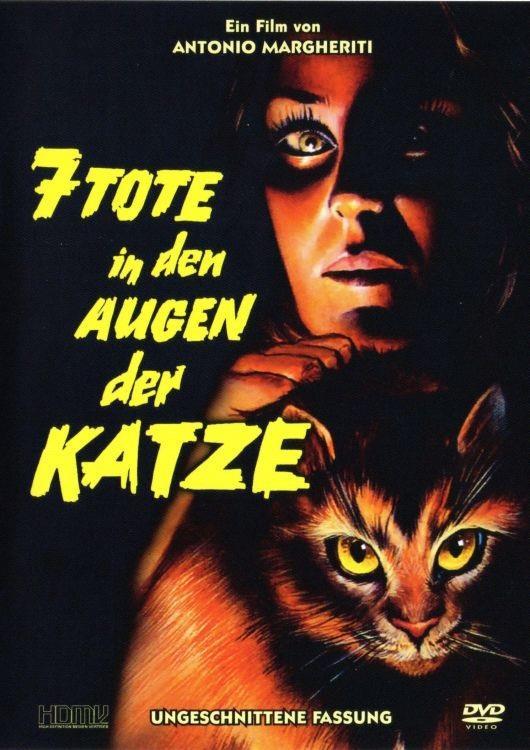 7 Tote in den Augen der Katze - (Cover kann variieren!) (1973) (Wendecover, Uncut)