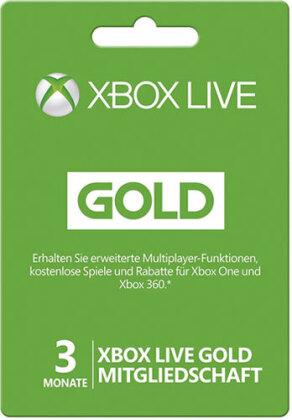 XBOX Live Card 3 Monate Gold