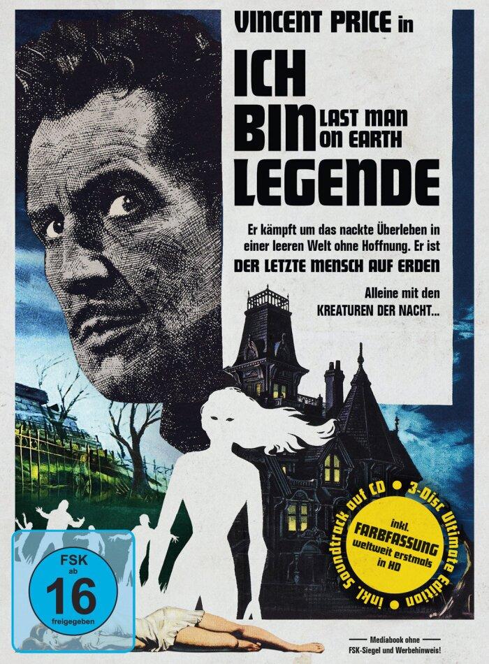 Ich bin Legende - The Last Man on Earth (1964) (Limited Ultimate Edition, Mediabook, Uncut, Blu-ray + DVD + CD)