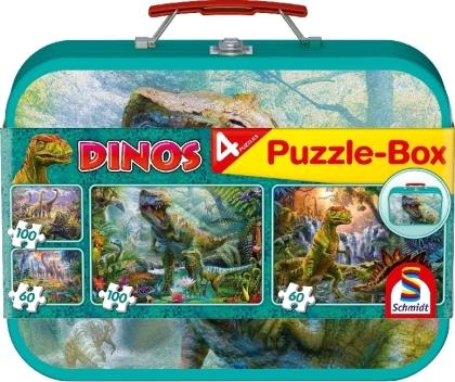 Puzzle-Box Dinos 2x60 Teile 2x100 Teile