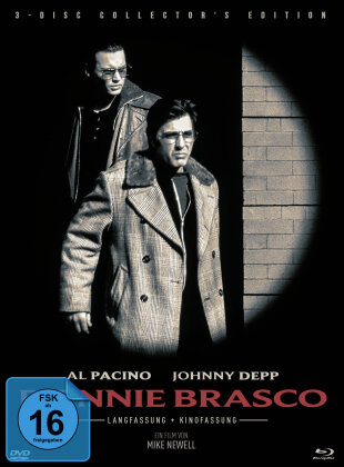 Donnie Brasco (1997) (Cover A, Extended Edition, Kinoversion, Limited Collector's Edition, Mediabook, 2 Blu-rays + DVD)