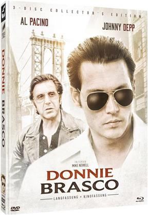 Donnie Brasco (1997) (Cover B, Kinoversion, Limited Collector's Edition, Langfassung, Mediabook, 2 Blu-rays + DVD)