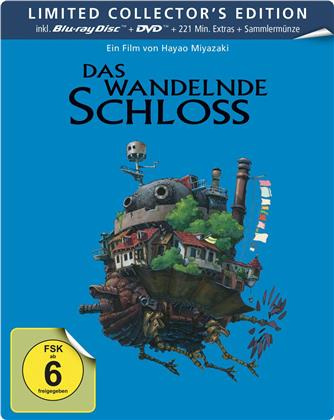 Das wandelnde Schloss (2004) (Collector's Edition, Limited Edition, Steelbook, Blu-ray + DVD)