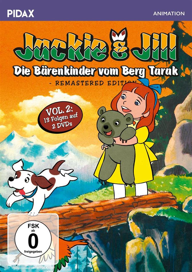 Jackie & Jill - Die Bärenkinder vom Berg Tarak - Vol. 2 (Pidax Animation, Remastered, 2 DVDs)