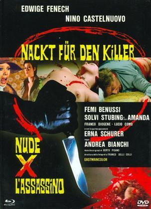 Nackt für den Killer - Nude x l'assassino (1975) (Eurocult Collection, Cover A, Limited Edition, Mediabook, Uncut, Blu-ray + DVD)